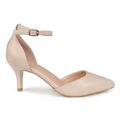 Brinley Co Women's Mike Pumps - Nude - Size:8.5 2111652