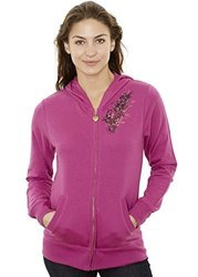 Jordacshe Zip Up Women'S Cotton Hoodie  Variety Of Colors Large Fuchsia 2118704