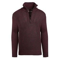 Alta Men's Fleece Lined Casual Half-Zip Mock Neck Sweater - Red - Size: XL 2123647