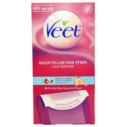 Veet Ready To Use Wax Strips And Wipes - 40 Ct 1026499
