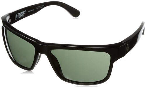 68223990ac485 ... Spy Optic Unisex Frazier Wrap Polarized Sunglasses - Black Gray ...