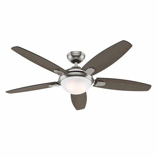 Hunter Ceiling Fan In Brushed Nickel - Light Grey