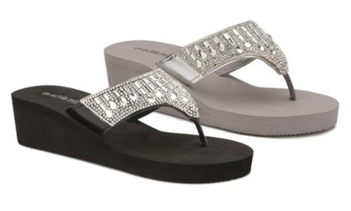 0b868f6379d7 Olivia Miller Bling Wedge Sandals -Tan - Size  7 - Check Back Soon ...