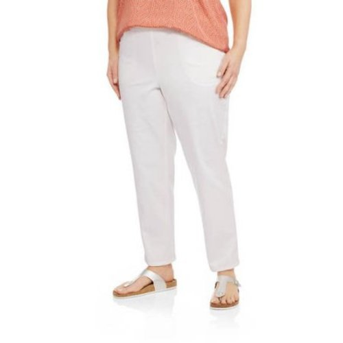 3837b3492a8f6 Just My Size Women s Plus-Size Stretch Woven Pants - Cream - Size 1x -  Check Back Soon - BLINQ
