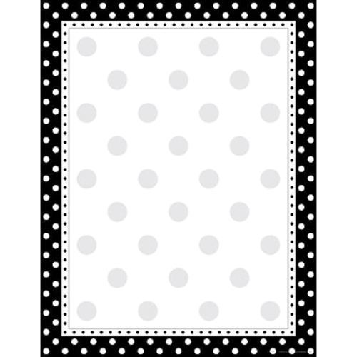 barker creek 8 1 2 x11 black white dot designer computer paper 50