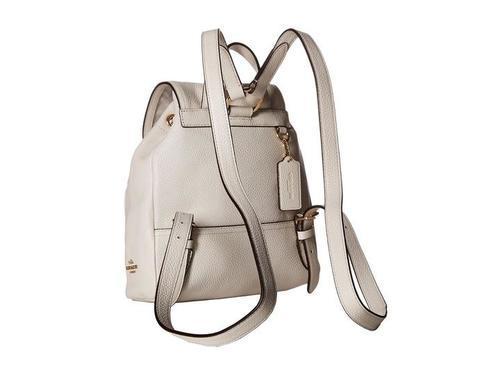 292697672 Coach Women's Mini Turnlock Chalk Leather Backpack - White - Check ...