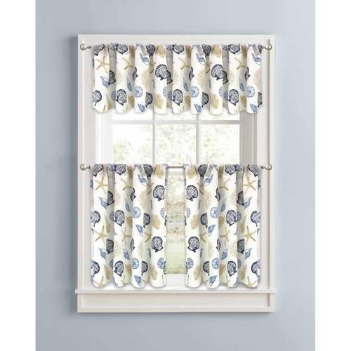 Better Homes & Gardens Kitchen Curtains 2 Set - Multi - Size:30\