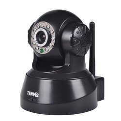 Tenvis Wireless IP Wi-Fi Network IR Night Vision Security Camera - Black