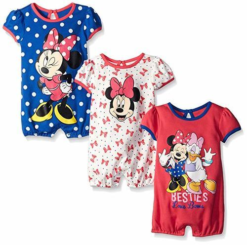 ff95d442ebec ... Disney Baby Girls  Minnie Mouse Rompers - 3 Pack - Multi - Size 6 ...