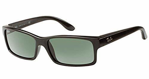 1ae56230ec Ray-Ban RB4151 Sunglasses with Black Frame and Green Polarized Lenses ...