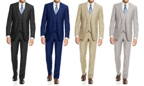 a0f83f27b83 Braveman Men s Slim Fit 3 Piece Suit – Blue – Size  44S x …