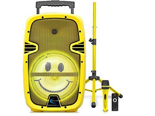 Technical Pro Limited Edition Bluetooth Emoji Speaker With Tripod &  Microphone 15 Yellow New Rechargeable - Check Back Soon