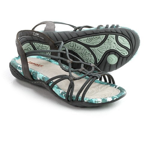 7608f661a85 JSport by Jambu Women s April Gladiator Sandal - Gray - Size  9.5 ...