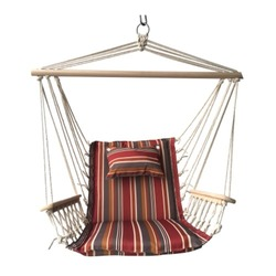 Deals on Backyard Expressions Hammock Chair with Wooden Arms