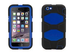 Griffin Survivor All-Terrain Carrying Case for iPhone 6/6s - Black/ Blue
