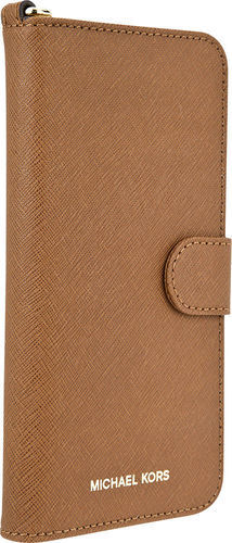 sale retailer ae7f4 b67a0 Michael Kors Folio Case for Apple iPhone 7 Plus - Brown