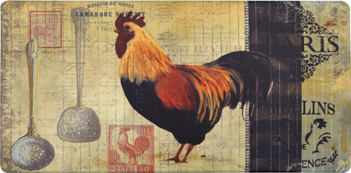 Nicole Miller Cook N Comfort Paris Rooster Kitchen Mat - Beige/Dark Brown -  Check Back Soon