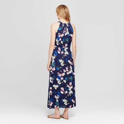 422122f83f Spenser Jeremy Women s Floral Print Tulip Hem Maxi Dress - Navy ...