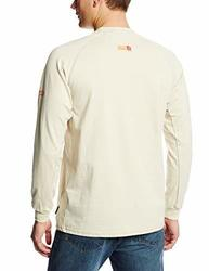 446660526d Ariat Men's Flame Resistant Long Sleeve Work Crew Shirt - Sand ...