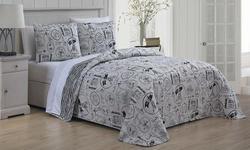 Geneva Home Paris Bed In A Bag Printed Quilt Set 3 Pc Multi Size