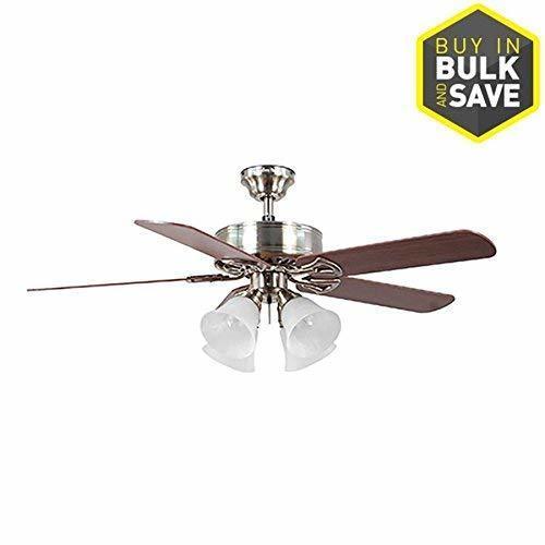 Harbor Breeze 52 Indoor Ceiling Fan With Light Kit Brushed Nickel