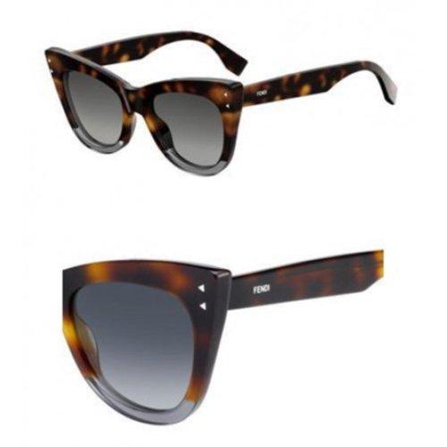 a97742482f Fendi Women s Plastic Cat Eye Sunglasses - Brown Havana Gray - Check ...