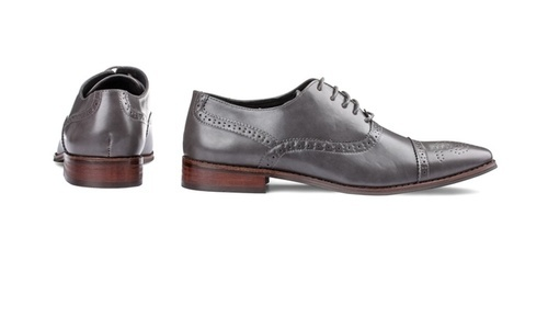 Signature Men s Brogue Cap Toe Oxford Dress Shoes - Gray - Size 10 ... bd2d2b1ea5f