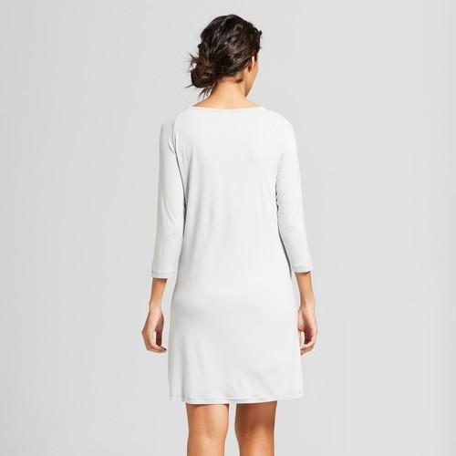 78c92859b914a Nite Nite Munki Munki Women's Long Sleeve Nightgown - Gray - Size:XL ...