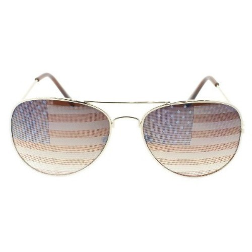 75641102e53d Women s Sylvia Alexander American Flag Aviator Sunglasses - Gold - Check  Back Soon - BLINQ