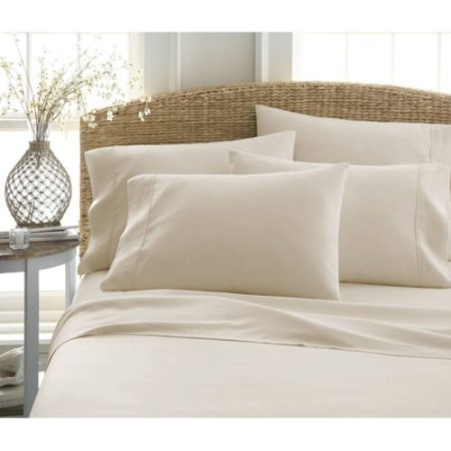 Merit Linens Microfiber Bed Sheets Set   Cream   Size: Full ...