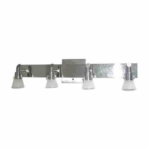 Portfolio 4 Light 2575 Brushed Nickel Bell Vanity Light Bar
