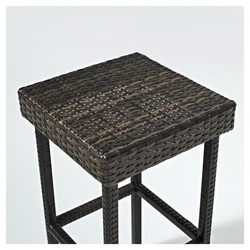 Crosley Palm Harbor All Weather Wicker Side Chair Set Gray BLINQ - All weather wicker side table