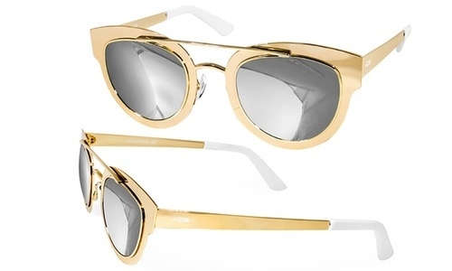73b9221e3b AQS Unisex Jolene Sunglasses - Gold Black - BLINQ