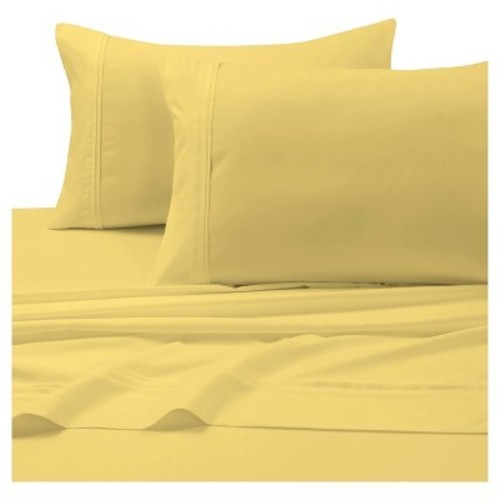 Tribeca Living Solid Deep Pocket Bed Sheet Set   Gold   Size:Twin XL