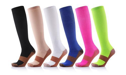 99153f3c0b Extreme Fit Unisex Copper Infused Compression Socks 6 Pairs - Size ...