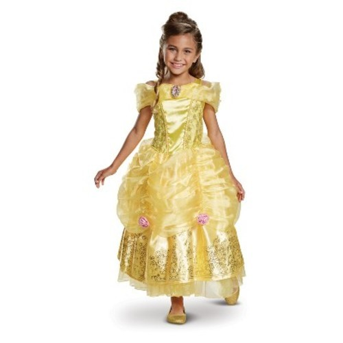toddler girls disney princess belle deluxe halloween costume 3t 4t