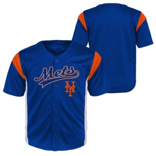 buy popular 4b29d f746d New York Mets Baby Boys' Short Sleeve Button-Down Jersey - 12 M - Check  Back Soon