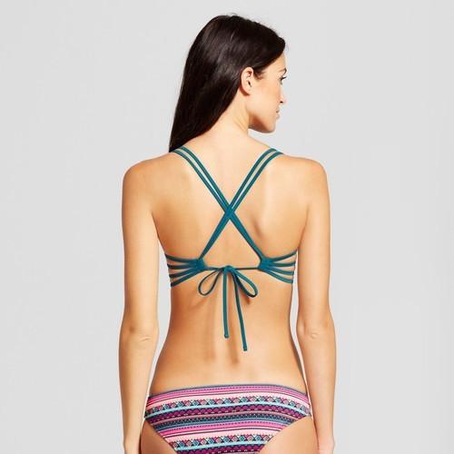 a53524da4aaf1 Women s Shell Strappy Cross Back Push-Up Halter Bikini Top - Shade   Shore