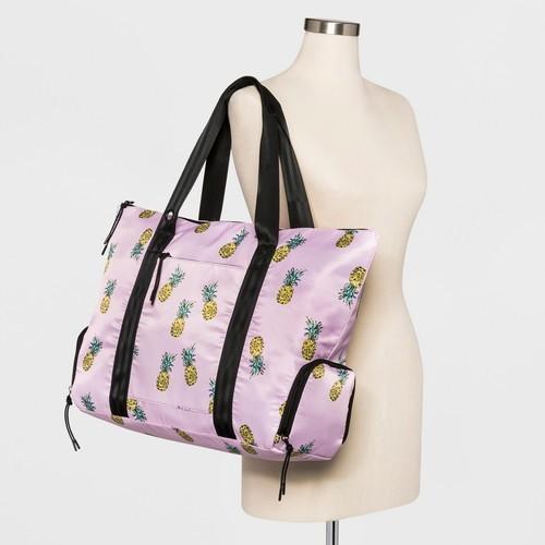 a273f1a004 Borsani Women s Nylon Tote Bag - Pink Powder - BLINQ