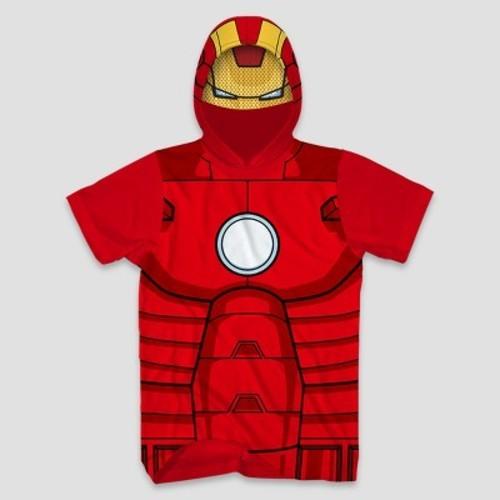 6c3e82b05 Marvel Men's Ironman Short Sleeve Hooded T-Shirt - Red - Size:2XL ...