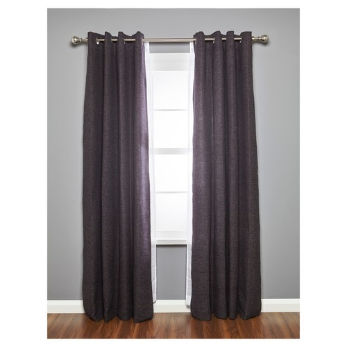 Umbra Loft Ball Double Curtain Rod Set