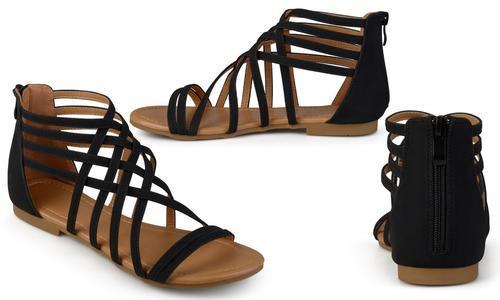 cbdb437215d Journee Women s Flat Gladiator Sandals - Black - Size  7 - Check ...