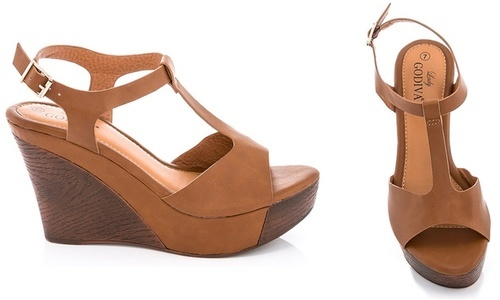 9ca0bbd366a2 Lady Godiva Women s T-strap Wedge Sandals - Tan - Size  8.5 - Check ...