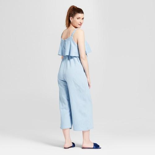 a90c49fed8f Ingrid   Isabel Women s Maternity Jumpsuit - Light Blue - Size S - BLINQ