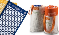 Shakti Mat of Nails Acupressure Mat w/ Tote Bag: Green,