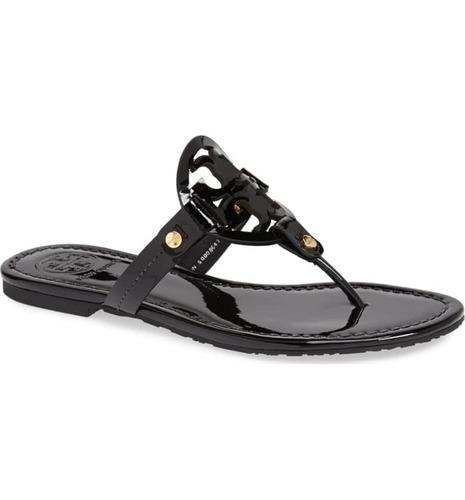 decc671514248 ... Tory Burch Women s Miller Patent Leather Thong Sandals - Black ...