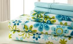 6-Piece 400TC Sheet Set w/ Pillow Cases - Queen - Blue/Green