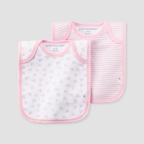 4a6b5e0d5 Burt's Bees Baby® Girls' Organic Cotton 2pk Lap Shoulder Bib Set - Blossom