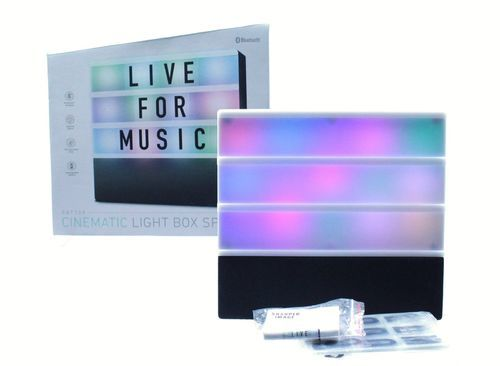 Sharper Image Sbt709bk Cinematic Light Box Bluetooth Speaker Check