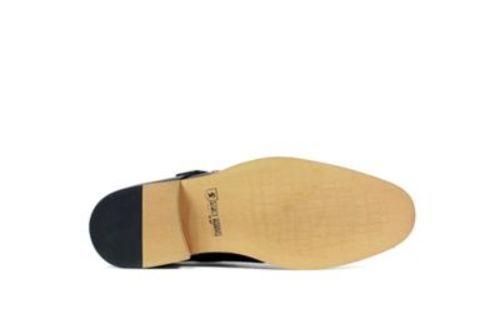 664dd8a1345 Stacy Adams Men s Desmond Monk-Strap Slip-On Shoe - Black - Size  13 ...